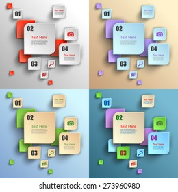 Modern business Infographics banners, Origami style, Step up number options, Web design, Vector illustration Eps 10