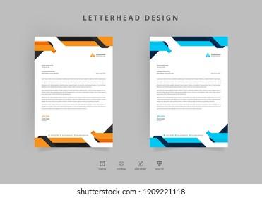 modern business letterhead template Vector design