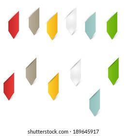 Modern business origami style options banner. Vector illustration. web design, infographics.