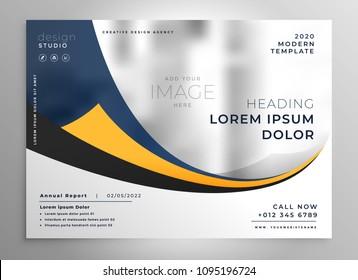 modern business presentation brochure flyer design