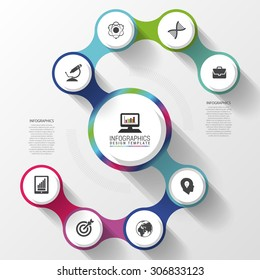 Modern business spiral infographics option. Abstract Vector illustration