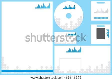Modern business stationery template business card stock vector modern business stationery template with business card letterhead envelope id card and cd wajeb Gallery