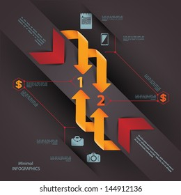 Modern business steb origami style options banner. Vector illustration. can be used for business presentation