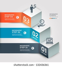 Modern Business step options. Vector illustration. can be used for workflow layout, diagram, number options, step up options, web design, infographics, banner.