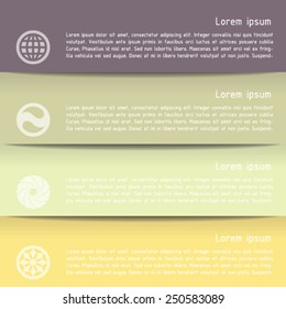 Modern business style options banner. Vector illustration. Can be used for workflow layout, diagram, number options, step up options, web design, infographics.