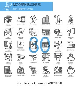 Modern business , Thin Line and Pixel Perfect Icons