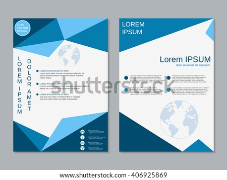 Modern Business Twosided Booklet Template Professional Stock Vector ...
