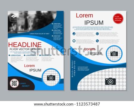 modern business twosided flyer booklet brochure stock vector
