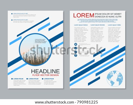 modern business twosided flyer booklet brochure のベクター画像素材