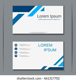 Modern business visiting card vector design template