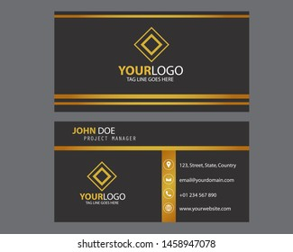 Modern bussines card. Simple business card design. Creative and elegant business card design. Simple business card template. Vector illustration. Eps 10