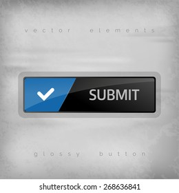 Modern buttons SUBMIT with color space for icons. Vector design elements.