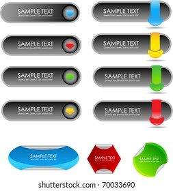 modern buttons with tags