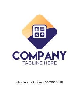 Modern calculator application logo for your company.