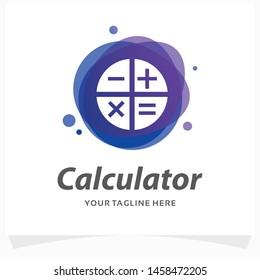 Modern Calculator Logo Design Template