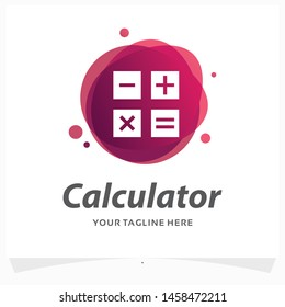 Modern Calculator Logo Design Template