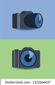 Modern camera illustratin