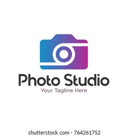 Modern Camera Photo Logo Template Design Vector, Photography template