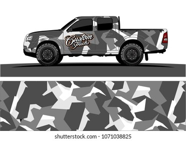 modern camouflage design for truck graphics vinyl wrap