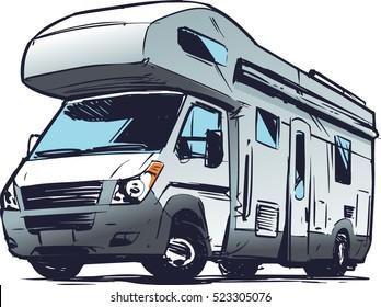 Modern Camper Van illustration