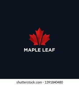 Modern Canada Maple Leaf Logo Design