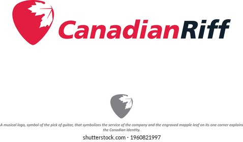 Modern Canadian Music Riff Logo Vector Template