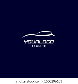 modern car silhouette logo vector design template. eps10