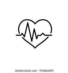 Modern cardiogram line icon. Premium pictogram isolated on a white background. Vector illustration. Stroke high quality symbol. Cardiogram icon in modern line style.