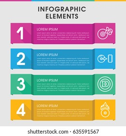 Modern cd infographic template. infographic design with cd icons includes d letter, disc on fire, cd fire. can be used for presentation, diagram, annual report, web design.