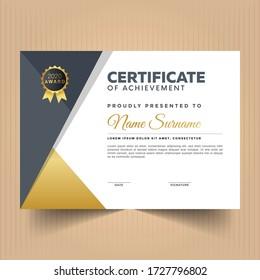 Modern certificate of achievement template design