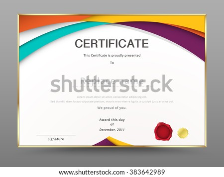 modern certificate appreciation template diploma design stock vector