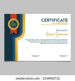 modern certificate of appreciation template vektor