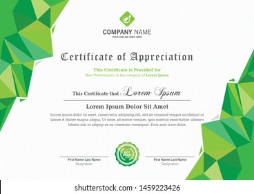modern certificate design for all sectors