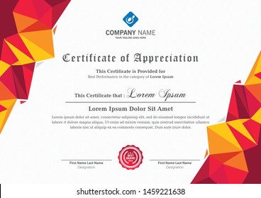 modern certificate design for corporate companies and all types business and other sectors