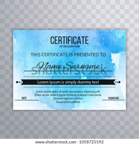 modern certificate design template stock vector royalty free