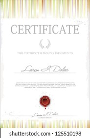 Modern Certificate or Diploma of completion. Vector template
