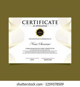 Modern certificate with spirals