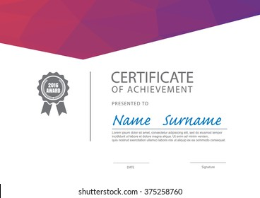 modern certificate template diploma layout