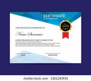 Modern certificate vector