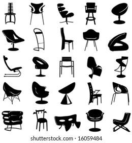 modern chair vector 2