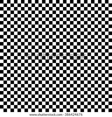 Modern Checkered Pattern Black And White Texture Chess Print