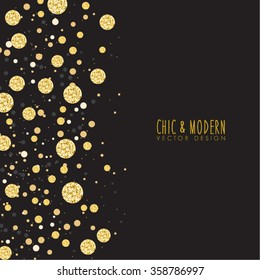Modern Chic Black Gold Background Vector Design