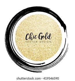 Modern Chic Gold Background Vector Design
