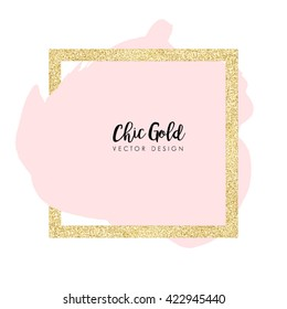 Modern Chic Gold Background Vector Design