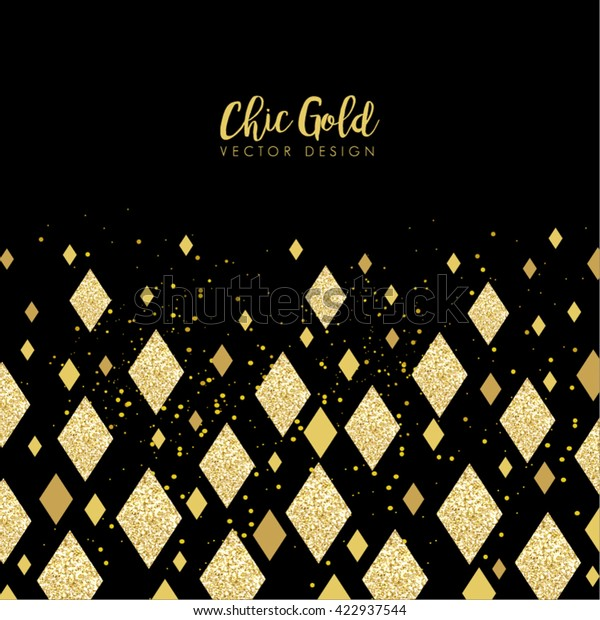Modern Chic Gold Diamond Background Vector Stock Vector (Royalty