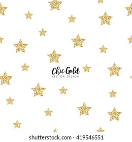 Modern Chic Gold Star Shape Vector Design