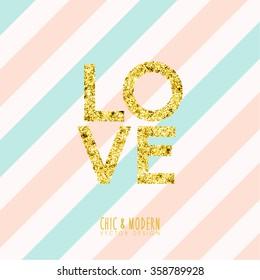 Modern Chic Love Element Vector Design