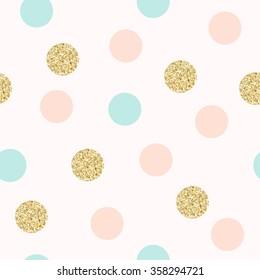 Modern Chic Polka Dot Background Vector Design