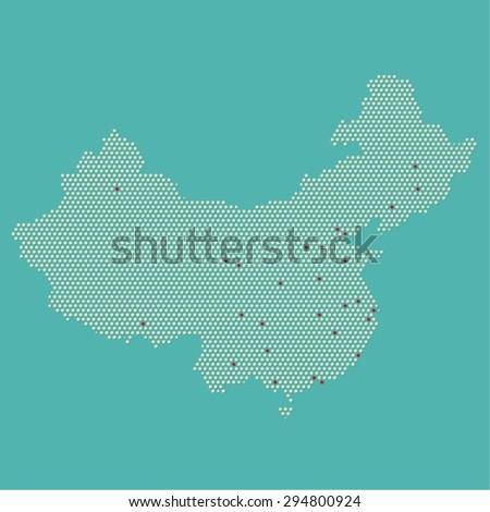 Modern China Map Vector Stock Vector Royalty Free 294800924