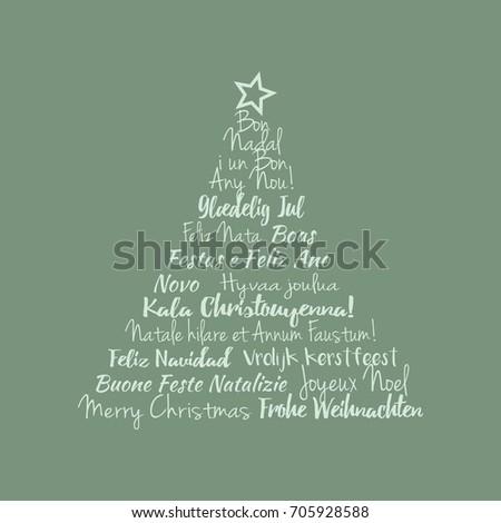 Modern christmas card international christmas greetings stock vector modern christmas card with international christmas greetings m4hsunfo